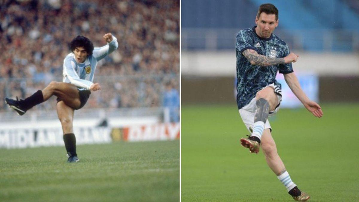 El homenaje de Messi a Maradona inspiró a un hincha en Twitter