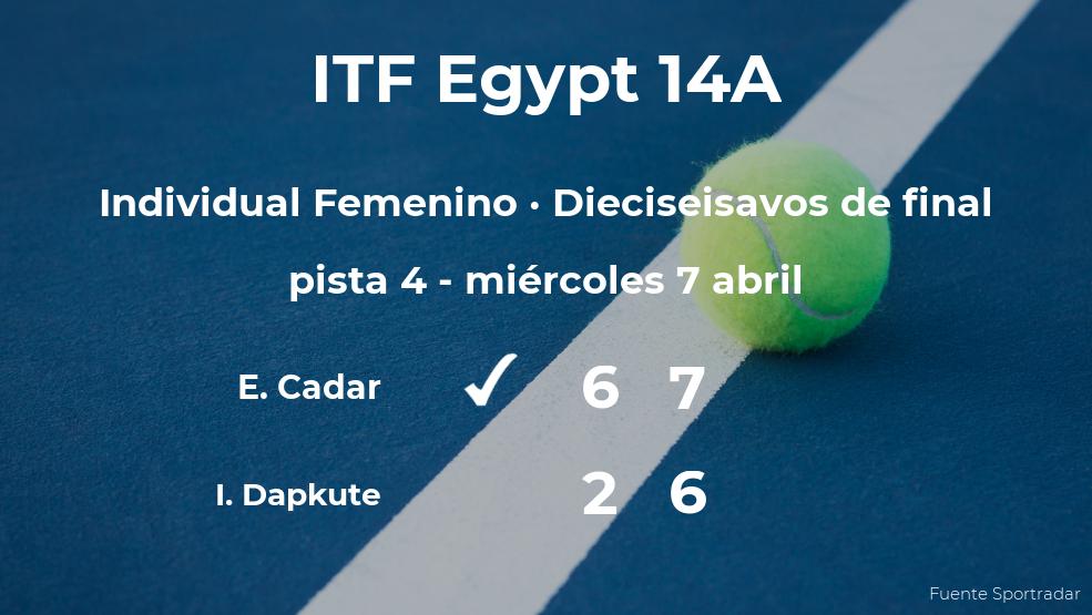 La tenista Elena Teodora Cadar vence en los dieciseisavos de final del torneo de Sharm El Sheikh