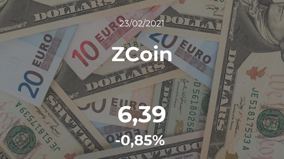 Cotización del ZCoin del 23 de febrero
