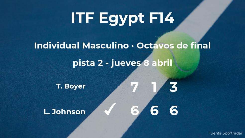 Luke Johnson logra clasificarse para los cuartos de final a costa del tenista Toby D Boyer