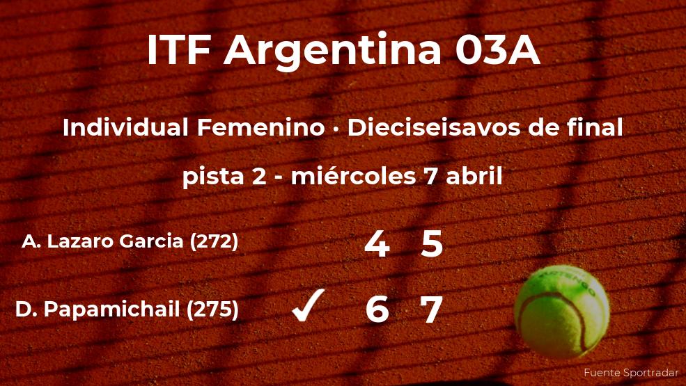 La tenista Andrea Lazaro Garcia se queda fuera de los octavos de final del torneo de Córdoba