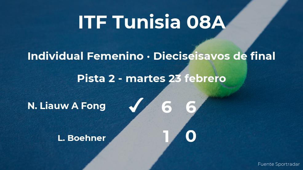 La tenista Noa Liauw A Fong pasa a los octavos de final del torneo de Monastir