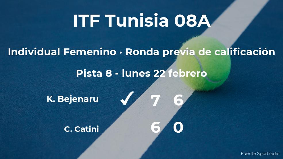 Karola Patricia Bejenaru pasa de ronda del torneo de Monastir