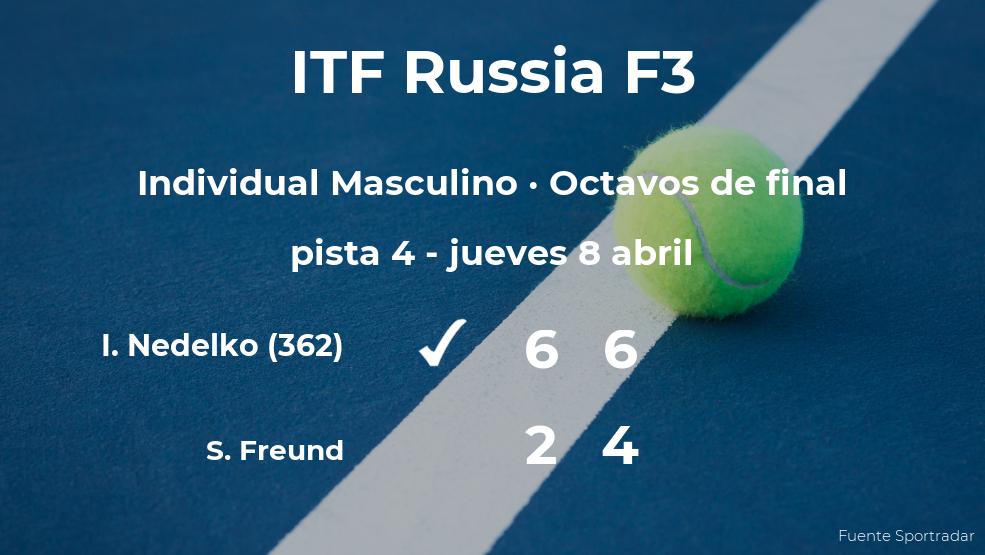El tenista Ivan Nedelko le arrebata el puesto de los cuartos de final al tenista Simon Freund