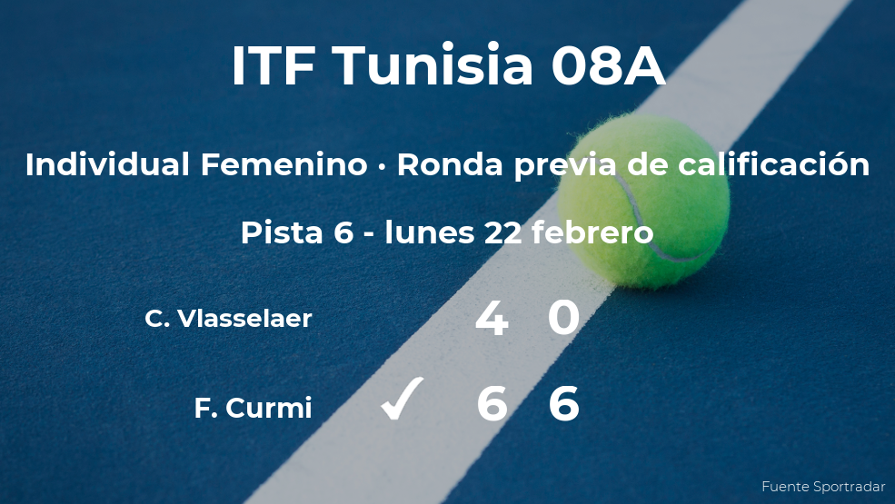 La tenista Francesca Curmi vence en la ronda previa de calificación del torneo de Monastir