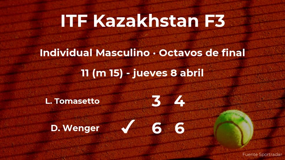 Damien Wenger se clasifica para los cuartos de final del torneo de Shymkent