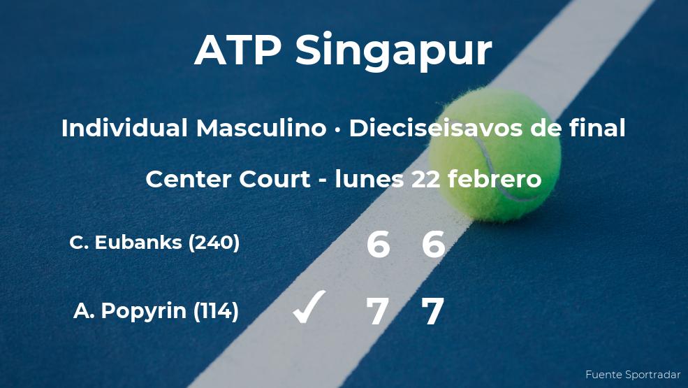 Alexei Popyrin pasa a los octavos de final del torneo ATP 250 de Kallang