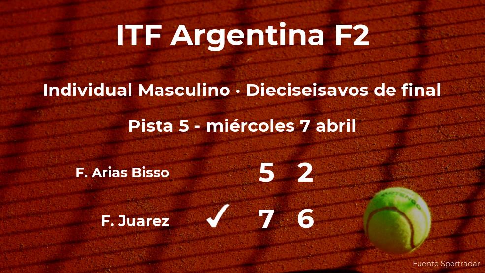 Facundo Juarez consigue clasificarse para los octavos de final del torneo de Córdoba