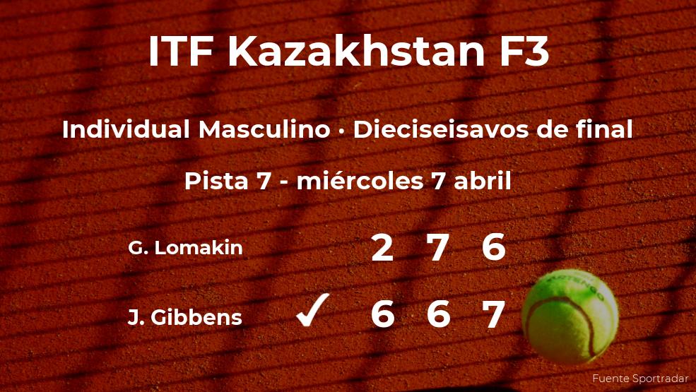 Jack Gibbens consigue clasificarse para los octavos de final del torneo de Shymkent