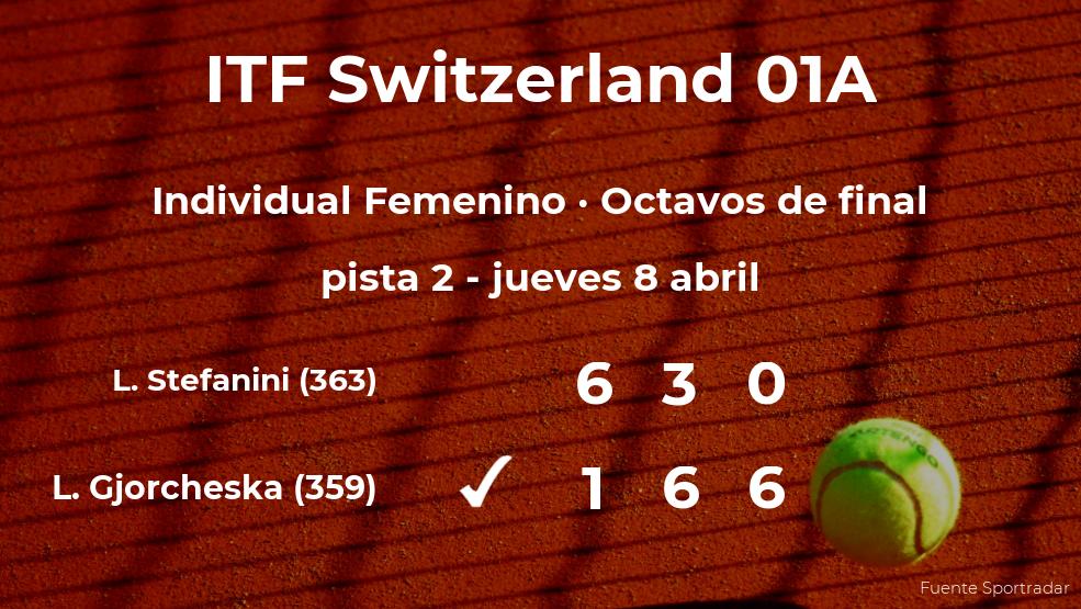 La tenista Lina Gjorcheska consigue el puesto de los cuartos de final a expensas de la tenista Lucrezia Stefanini