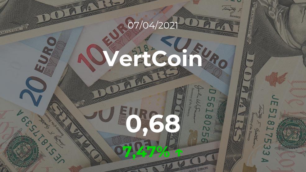 Cotización del VertCoin del 7 de abril