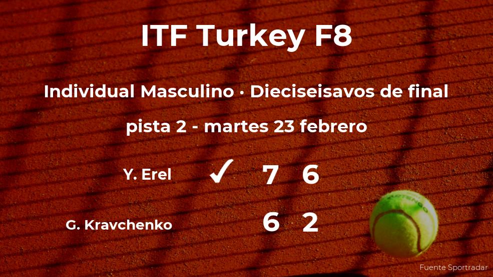 El tenista Yanki Erel logra la plaza de los octavos de final a costa de Georgii Kravchenko