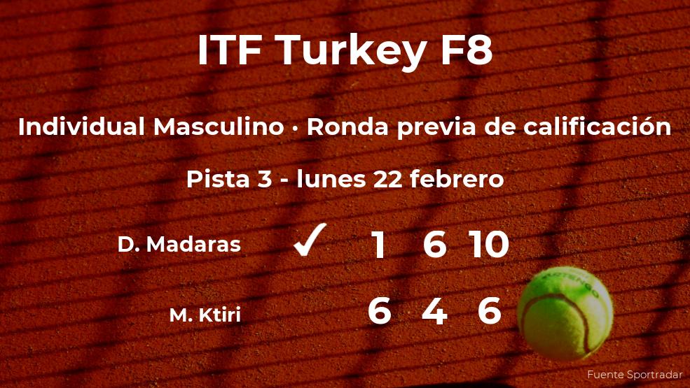 Marc Othman Ktiri se despide del torneo de Antalya