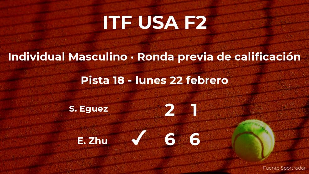 Evan Zhu vence al tenista Sebastian Eguez en la ronda previa de calificación