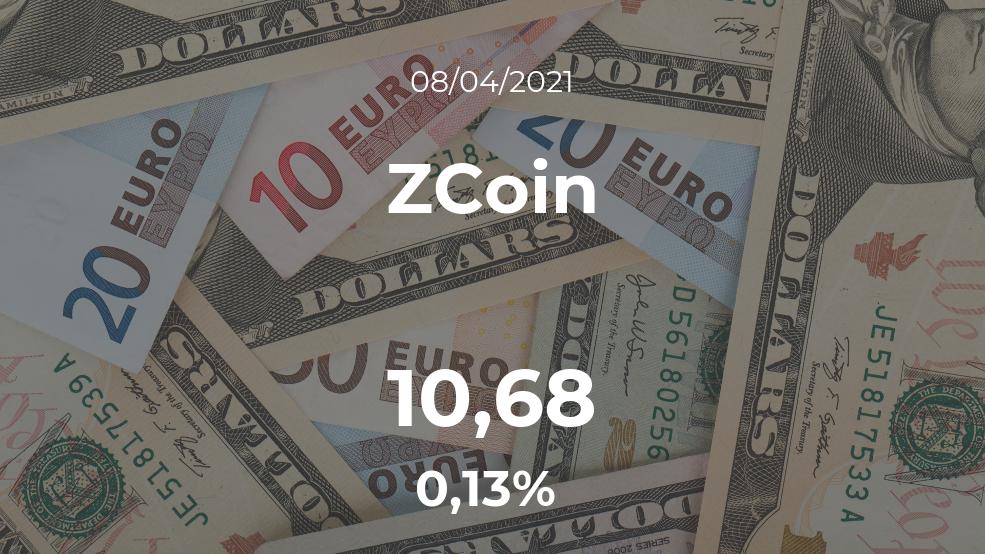 Cotización del ZCoin del 8 de abril