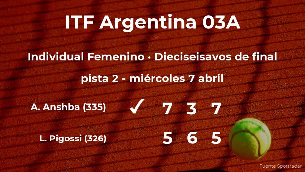 La tenista Amina Anshba consigue clasificarse para los octavos de final a costa de Laura Pigossi