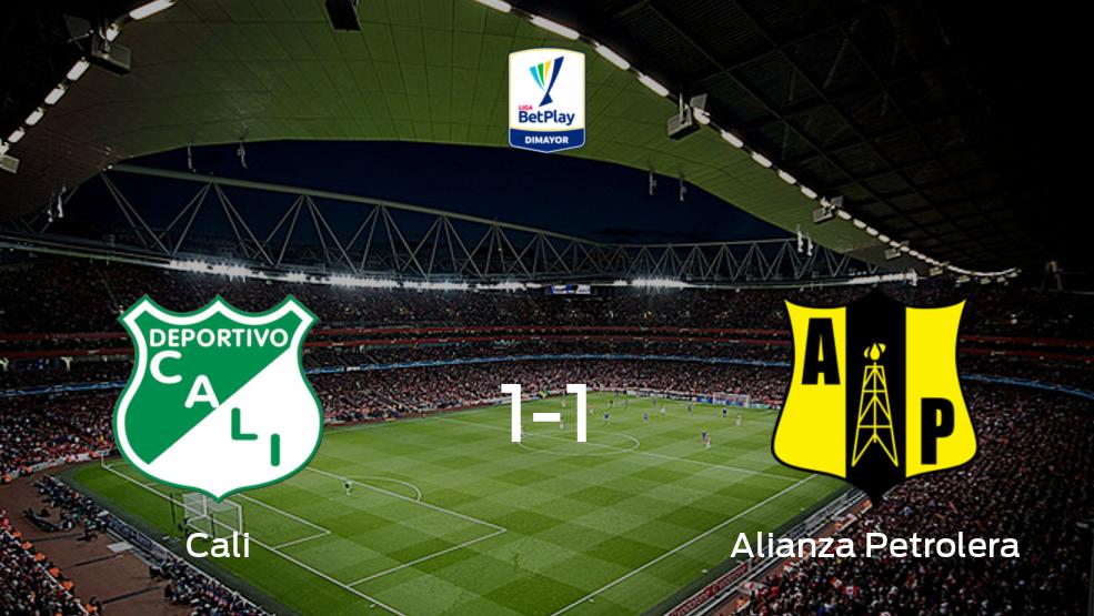 Reparto de puntos en el Estadio Deportivo Cali: Deportivo Cali1-1 Alianza Petrolera