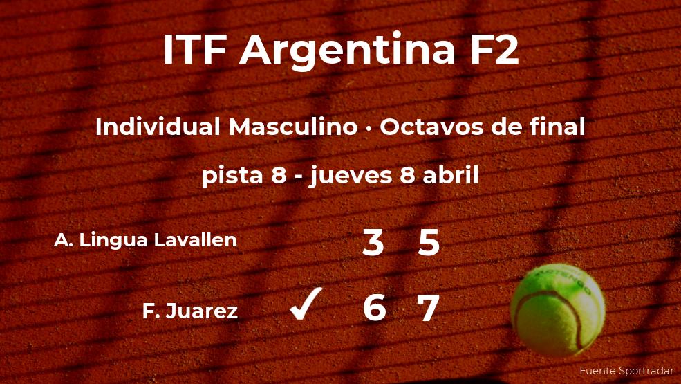 Facundo Juarez consigue la plaza de los cuartos de final a expensas de Alejo Lorenzo Lingua Lavallen