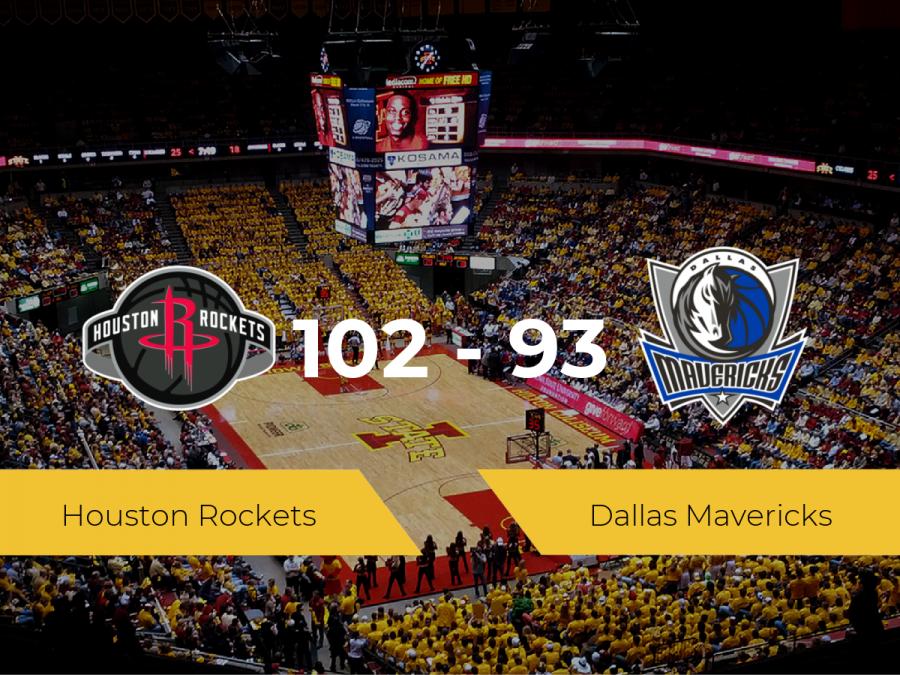 Triunfo de Houston Rockets ante Dallas Mavericks por 102-93