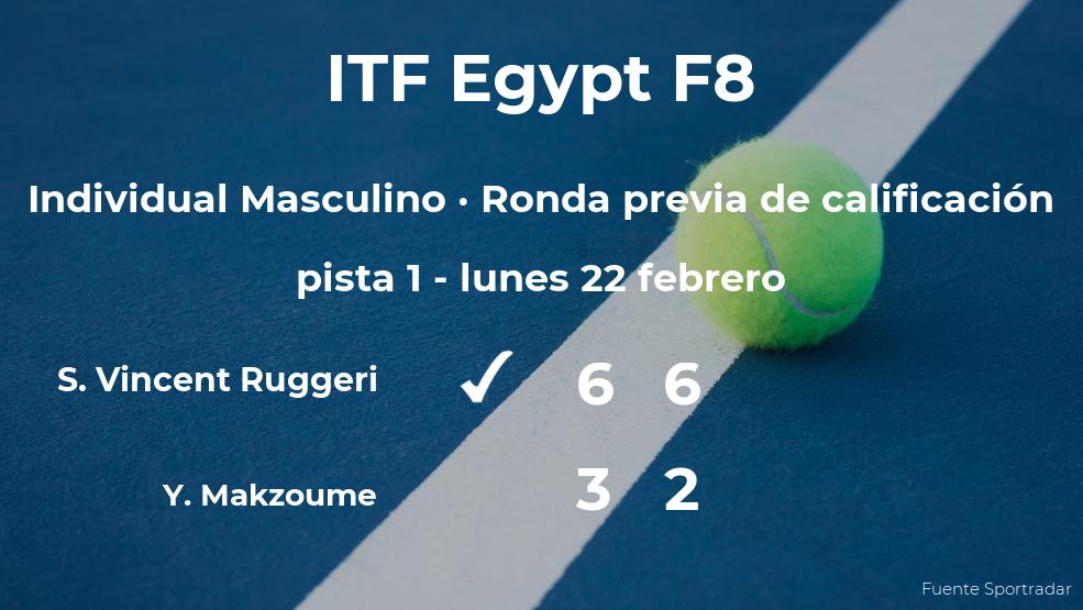 Triunfo para Samuel Vincent Ruggeri en la ronda previa de calificación
