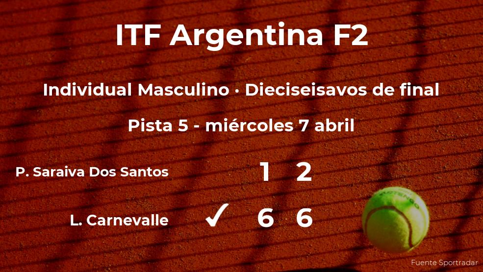 Lucio Carnevalle estará en los octavos de final del torneo de Córdoba