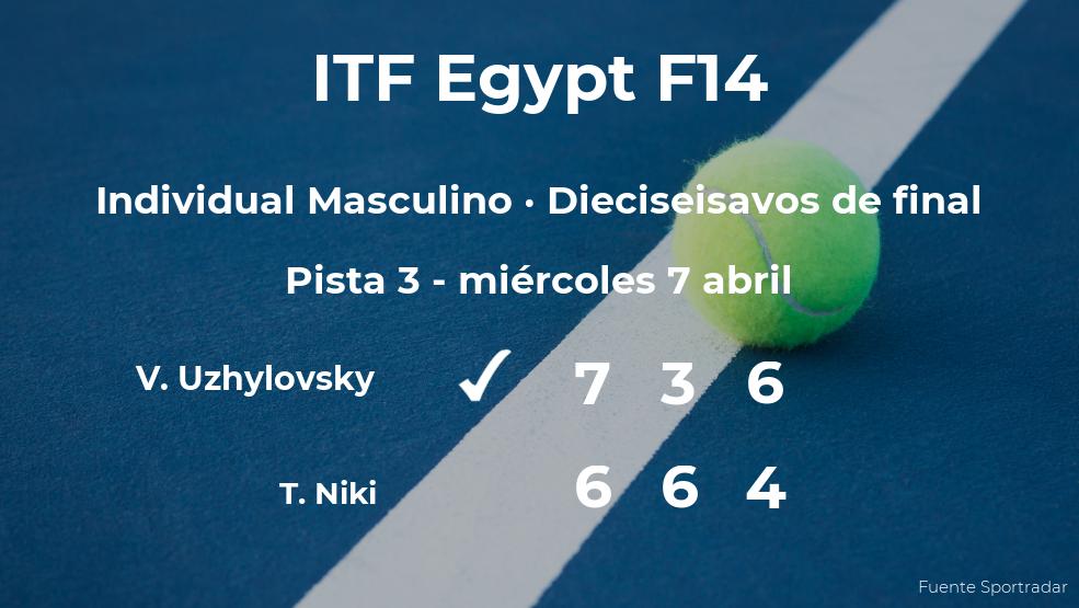 Vladimir Uzhylovsky logra clasificarse para los octavos de final a costa del tenista Takuto Niki