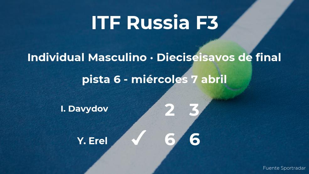 El tenista Yanki Erel vence en los dieciseisavos de final del torneo ITF Russia F3