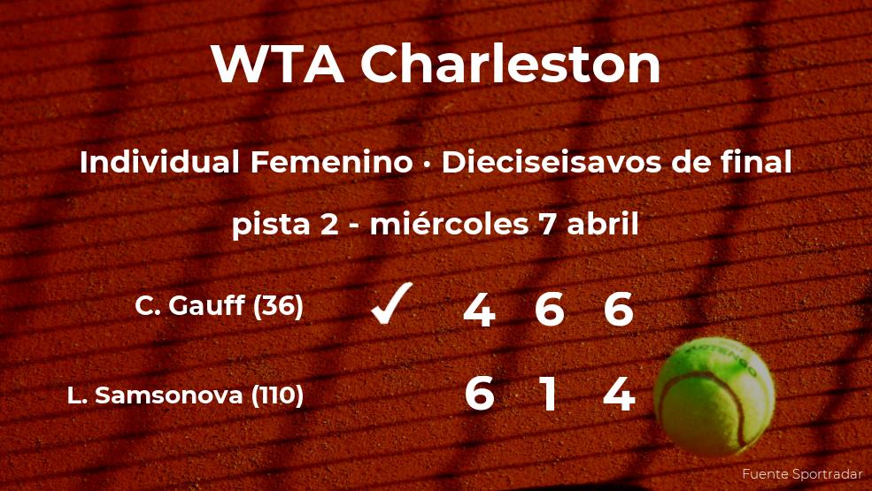Cori Gauff estará en los octavos de final del torneo WTA 500 de Charleston