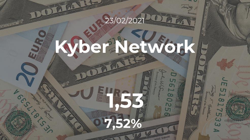 Cotización del Kyber Network del 23 de febrero