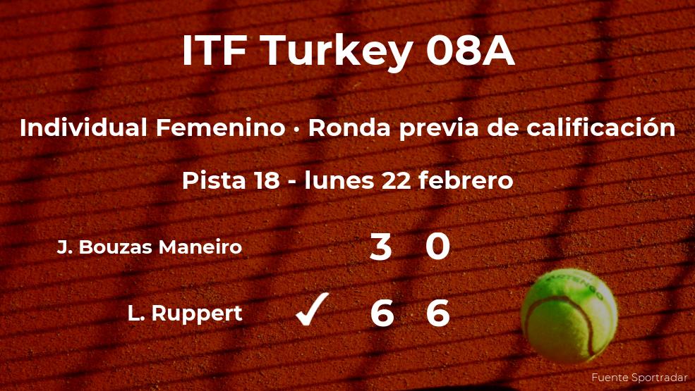 Jessica Bouzas Maneiro se queda fuera del torneo de Antalya