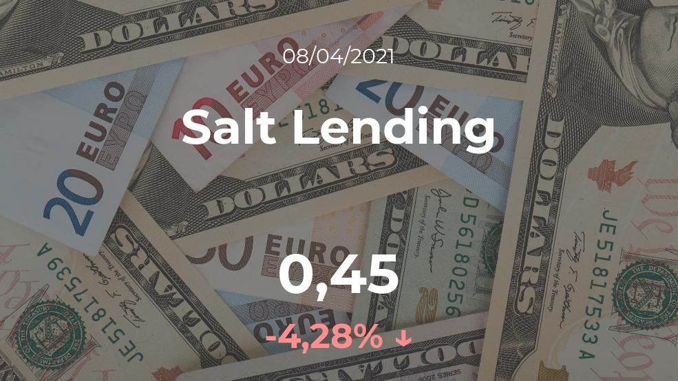 Cotización del Salt Lending del 8 de abril