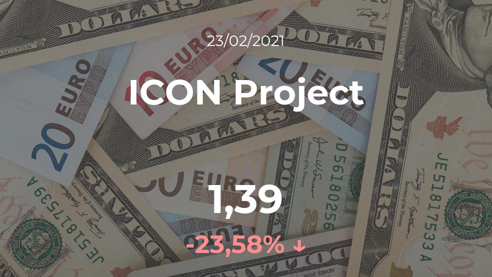 Cotización del ICON Project del 23 de febrero