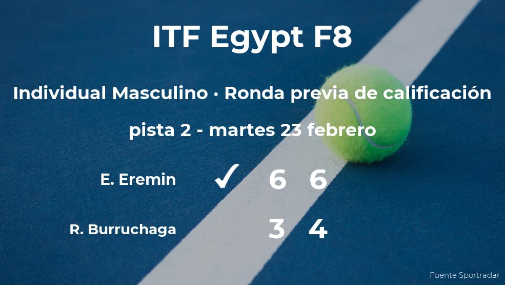 El tenista Edoardo Eremin consigue ganar en la ronda previa de calificación contra Roman Andres Burruchaga