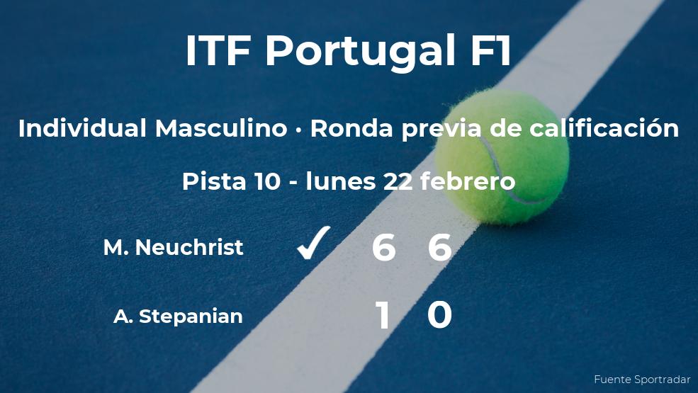El tenista Maximilian Neuchrist pasa de ronda del torneo de Vale de Lobo