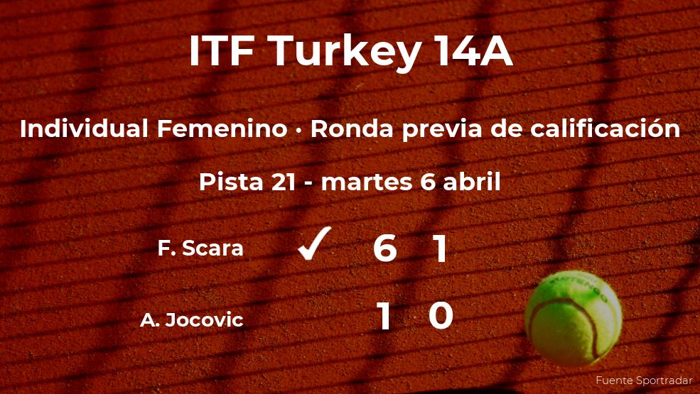 Flaminia Scara consigue la plaza para la siguiente fase tras ganar en la ronda previa de calificación