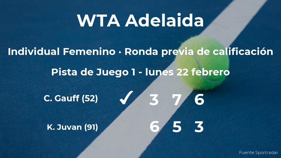 Cori Gauff pasa a la siguiente fase del torneo WTA 500 de Adelaida