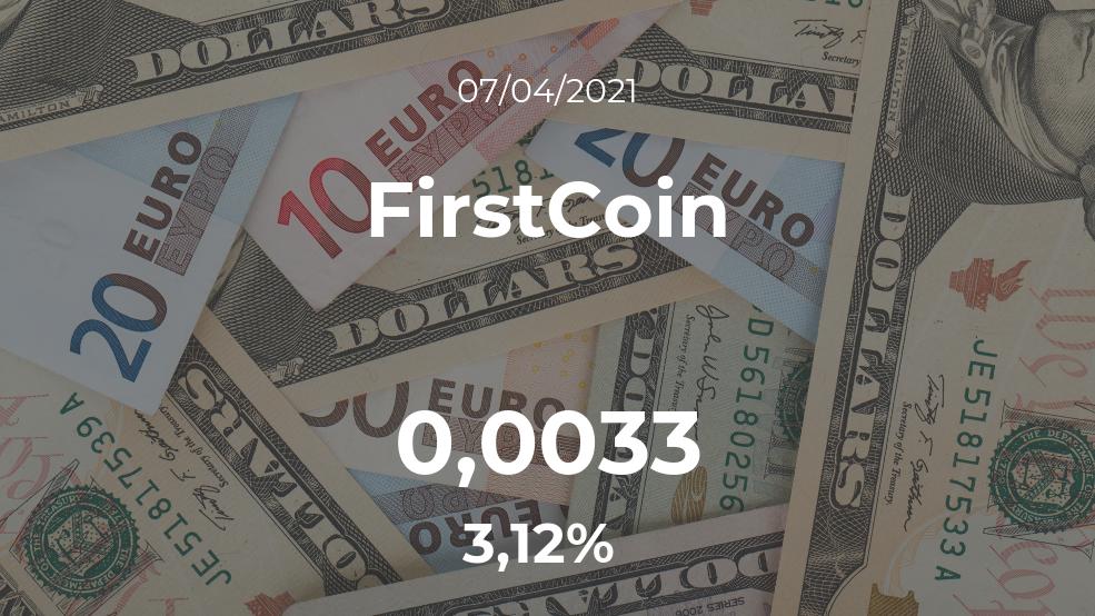 Cotización del FirstCoin del 7 de abril