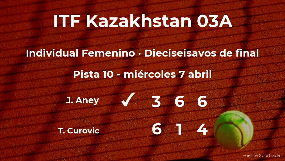 Jessie Aney consigue clasificarse para los octavos de final del torneo de Shymkent
