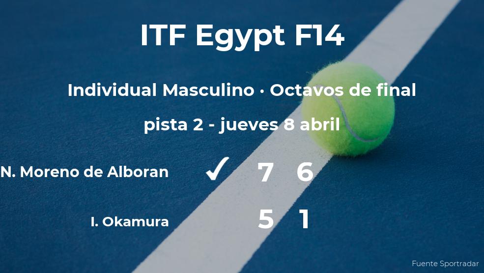El tenista Nicolas Moreno de Alboran pasa a los cuartos de final del torneo de Sharm El Sheikh