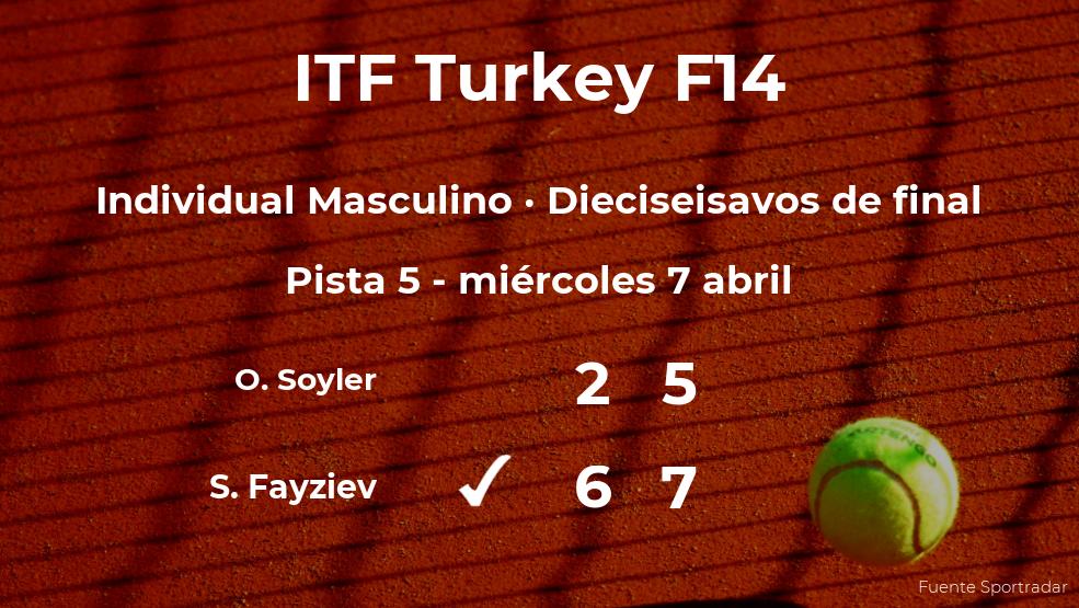 Sanjar Fayziev consigue clasificarse para los octavos de final a costa del tenista Osmancan Soyler