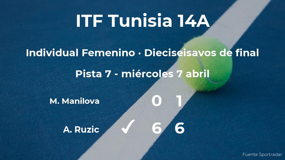 La tenista Antonia Ruzic pasa a los octavos de final del torneo de Monastir