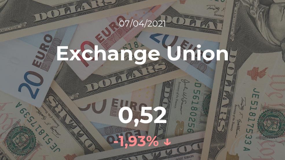 Cotización del Exchange Union del 7 de abril