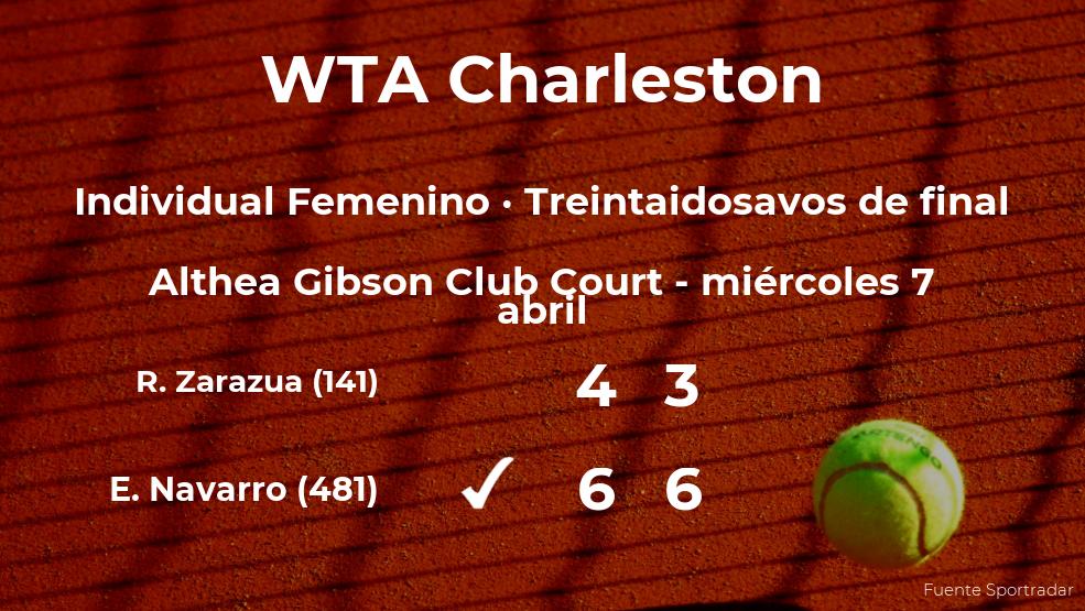Inesperada derrota de Renata Zarazua en los treintaidosavos de final del torneo WTA 500 de Charleston