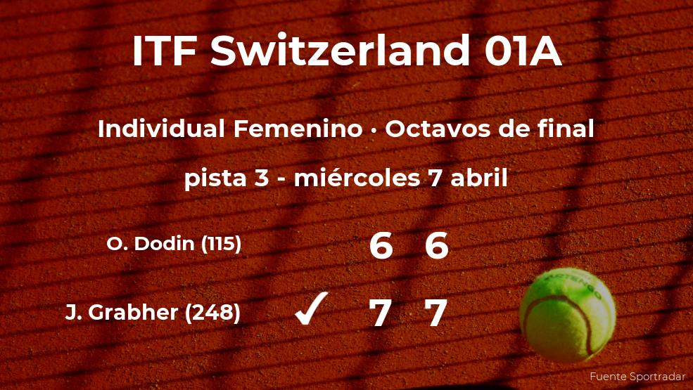 La tenista Julia Grabher estará en los cuartos de final del torneo de Bellinzona