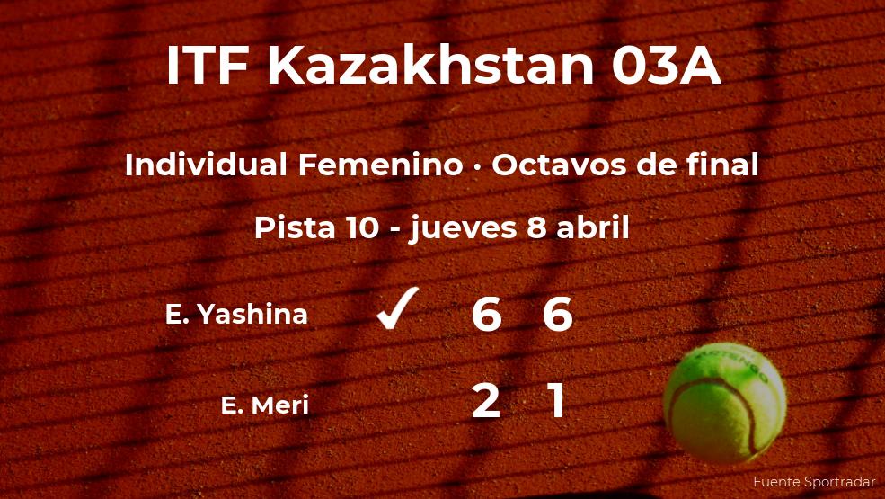 La tenista Ekaterina Yashina consigue la plaza de los cuartos de final a costa de Eszter Meri