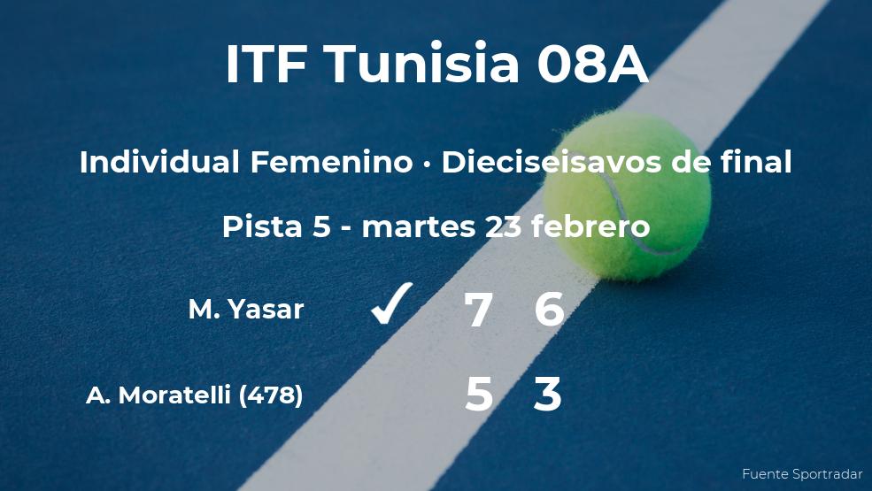 Melis Yasar gana en los dieciseisavos de final del torneo de Monastir