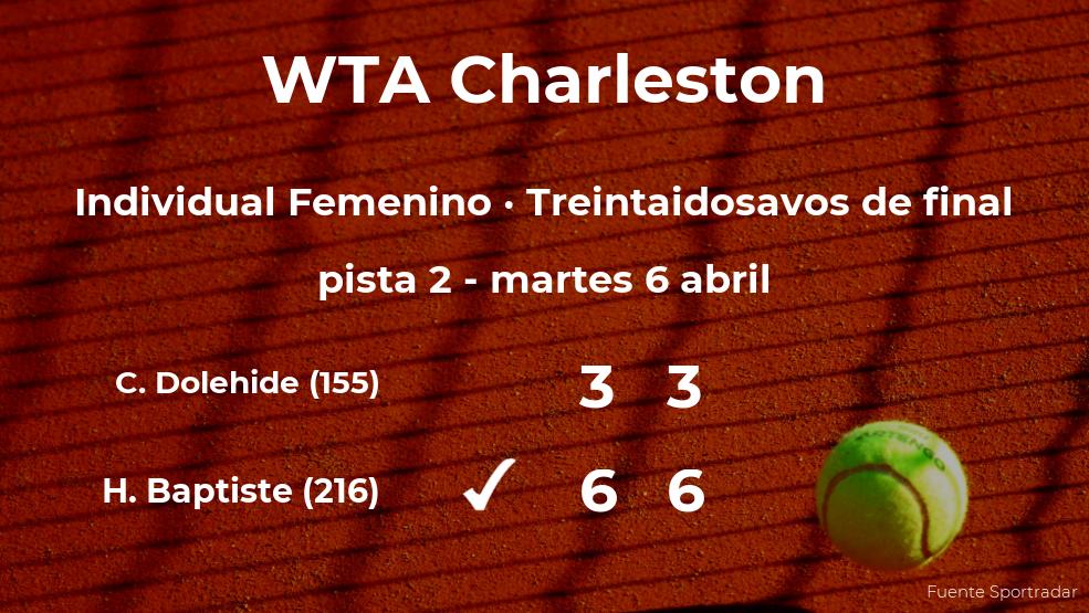 La tenista Hailey Baptiste logra clasificarse para los dieciseisavos de final a costa de la tenista Caroline Dolehide