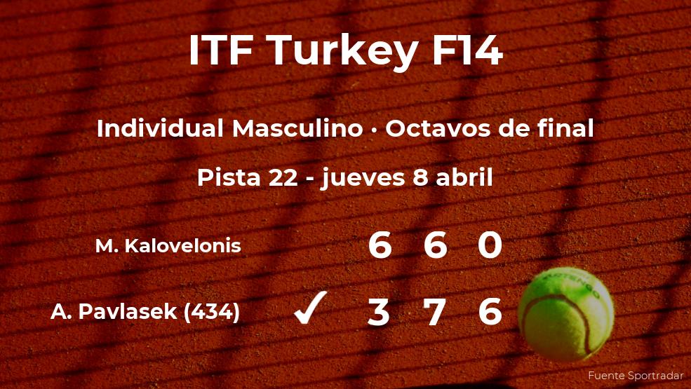 Adam Pavlasek consigue clasificarse para los cuartos de final del torneo de Antalya
