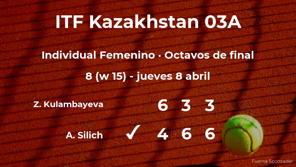 La tenista Alina Silich consigue clasificarse para los cuartos de final a costa de Zhibek Kulambayeva