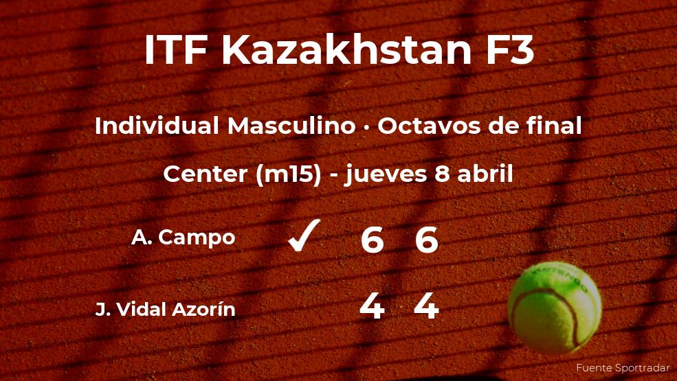 José Fco. Vidal Azorín se despide del torneo de Shymkent
